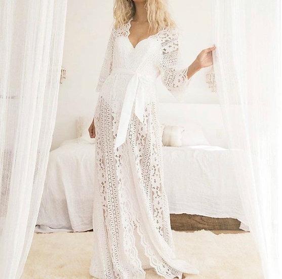 Bohemian Lace Robe