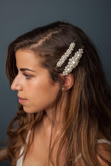 Pearl Hair Barrettes