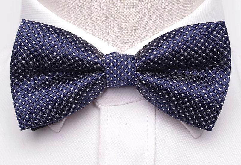 Blue Diamond Bow Tie