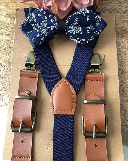 Formal Blue Suspender Set