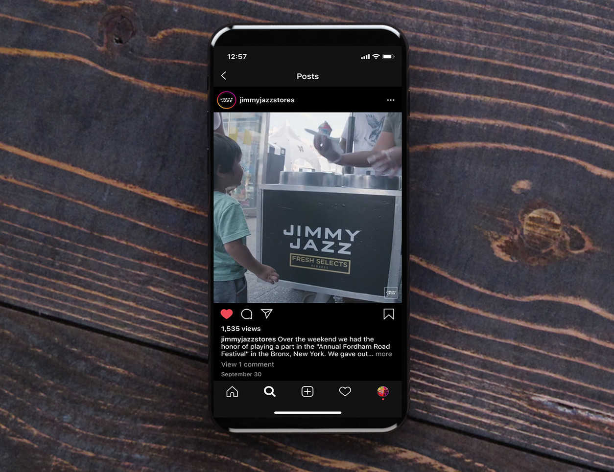 Jimmy Jazz Social Media Icy Cart Branding