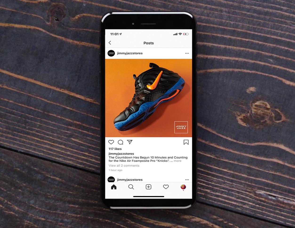 Jimmy Jazz Social Media Shoe Realease Post
