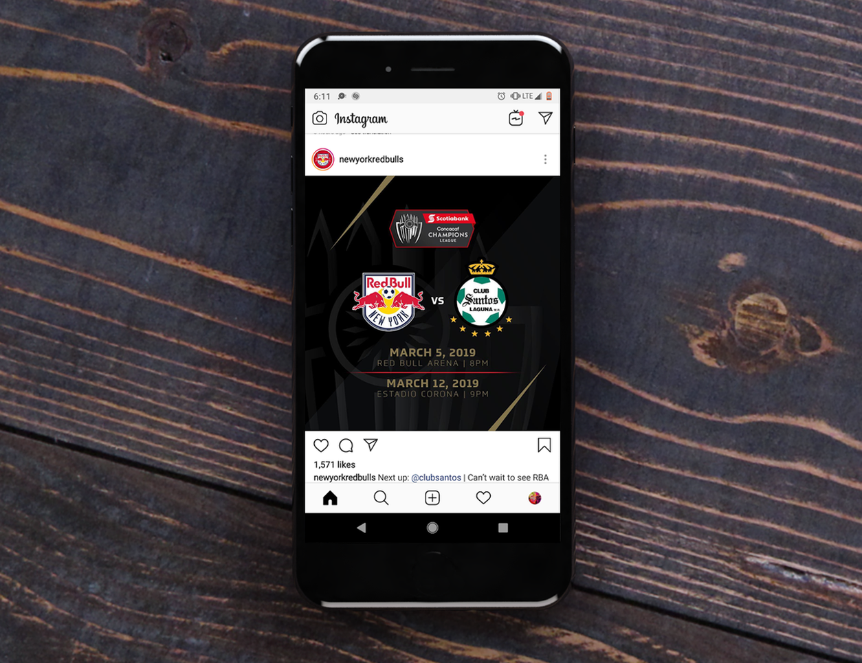Red Bulls Social Media Graphic