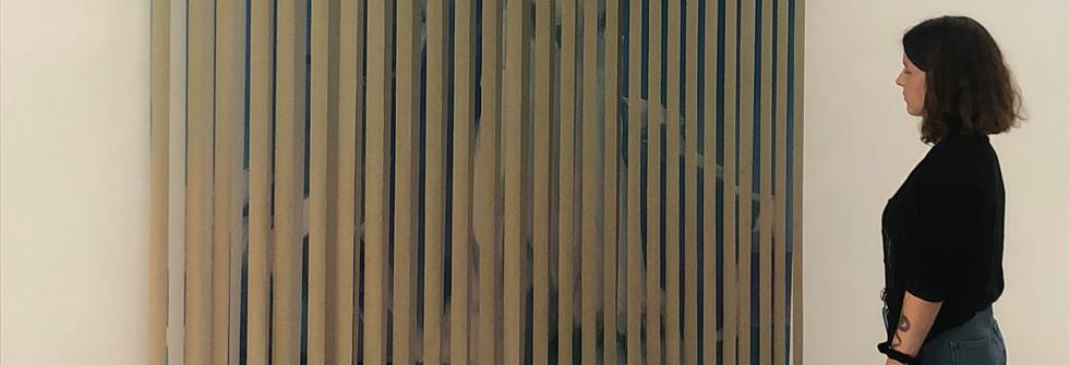 Résistance, oil on canvas and steel, 200 x 250 x 11cm, 2019