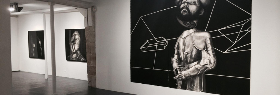 Vue de l'exposition Collision, Galerie Odile Ouizeman, 2015