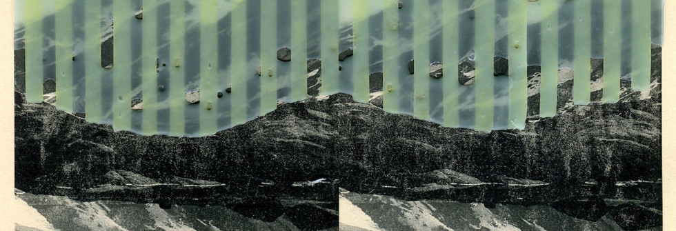 Reflection, Wax on printmaking, 24 x 19cm, 2019