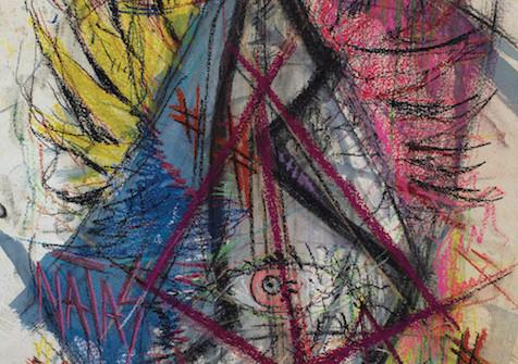 Protocole Desman, pastel et lavis sur papier Arches, 75 x 105 cm, 2017