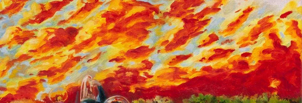 Fuite, huile sur toile, 22 x 27 cm, 2020