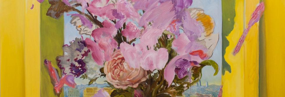 Peinture dominicale, huile sur toile, 116 x 89 cm, 2020