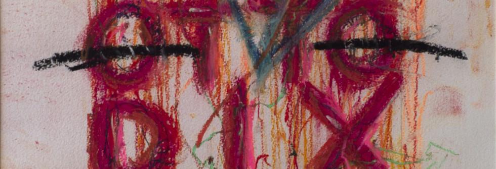 Hommage n°12, pastel sur papier Arches, 33 x 43 cm, 2017