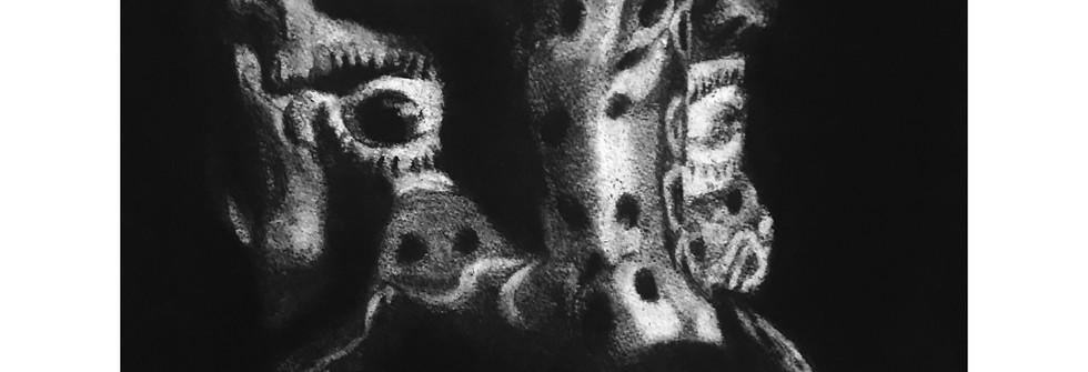Mara'kame, charcoal on paper, 50 x 42cm, 2019