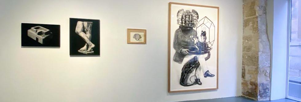 Vue de l'exposition Dessins, Figures et autres Desseins, Galerie Odile Ouizeman, 2020
