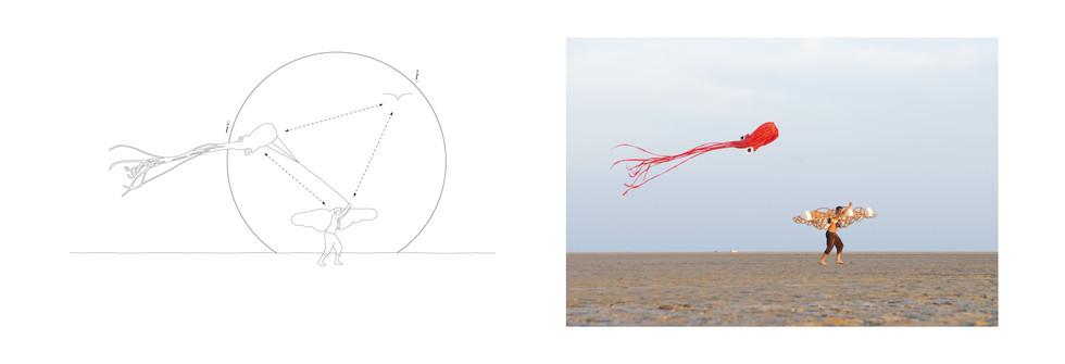 Rêve héroïque et rêve papillon, Tirage jet d'encre pigmentaire, papier blanc fine art, 300 grammes, 74 x 30 cm, 2008 - 2012