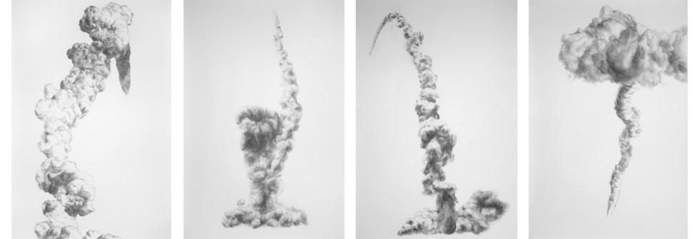 Série Eye Dust, eye-shadow with glitter on paper, 150 x 157 cm, 2007-2009