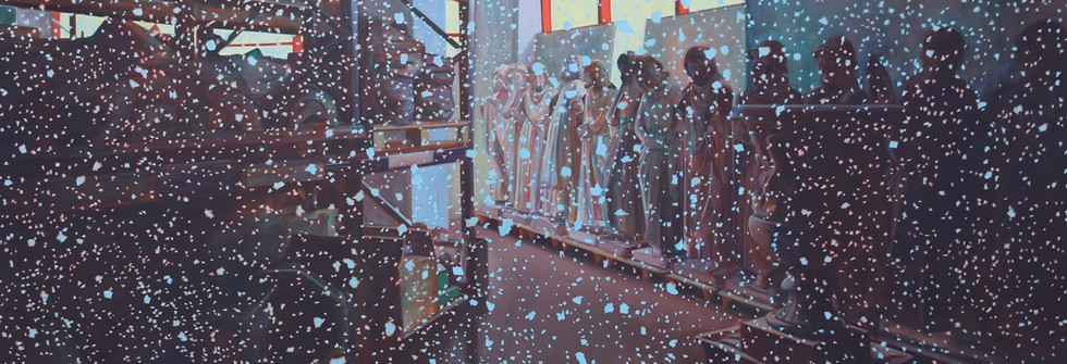 Les dormeurs, Oil on canvas, 315 x 210 cm, 2019
