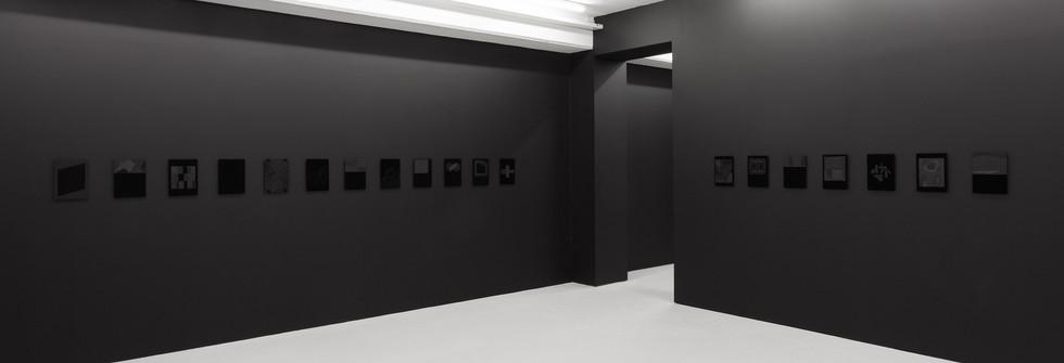 Vue d'exposition Black Letters, Elastic Gallery 2014