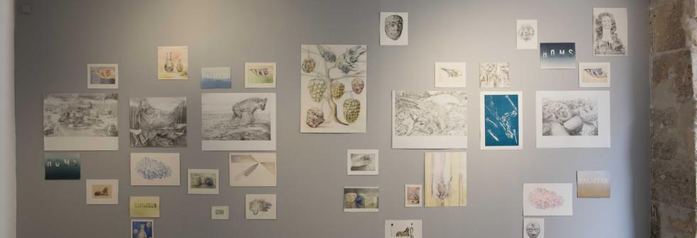Vue de la Au bon souvenir, 2017, Galerie Odile Ouizeman