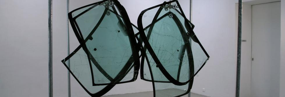 Lost Species, pares-brises, métal, dimensions variables, 2008
