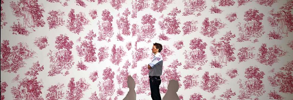 Shooting Wallpaper, interactive installation, 2012
