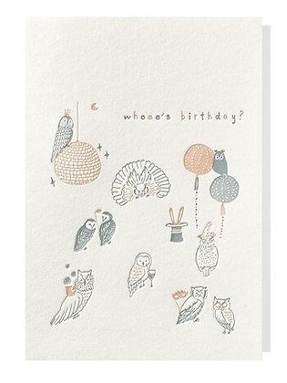 whooo's birthday