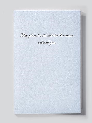 this planet will not be...