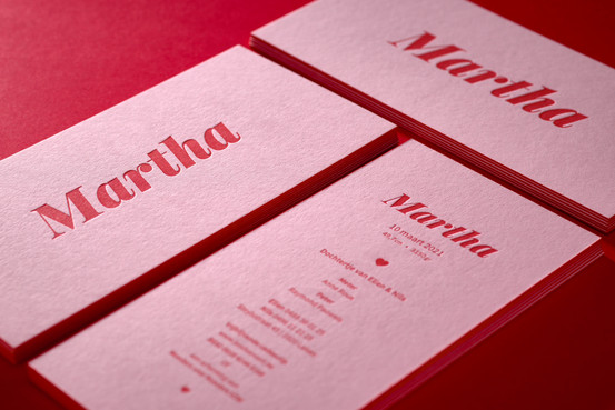 Geboortekaart Martha