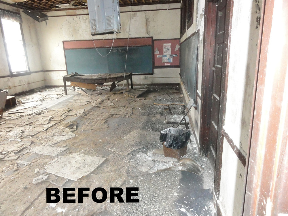 Before renovation - dilapidated space