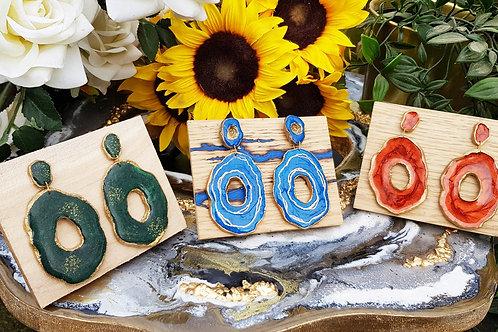 Custom Geode Earrings