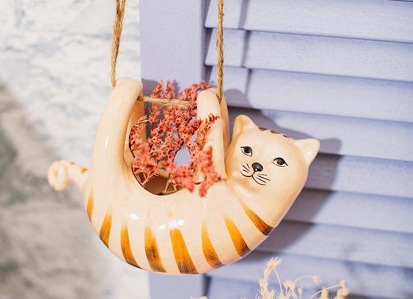 Hanging Cat Planter