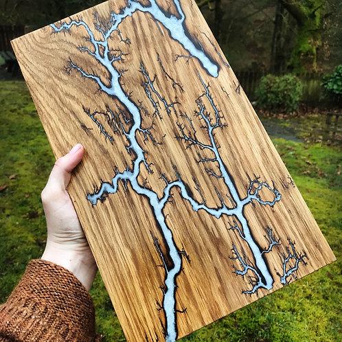 20x35cm Lichtenberg Figure Cutting Board / Serving Board / Cheese Board