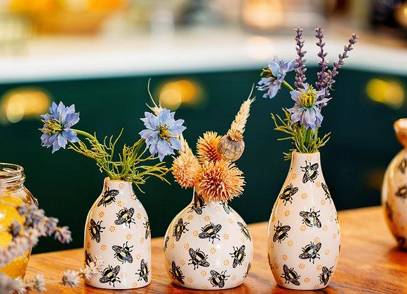 Set of 3 Mini Bee Vases