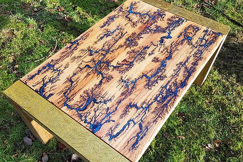 Electric Blue Lichtenberg Coffee Table
