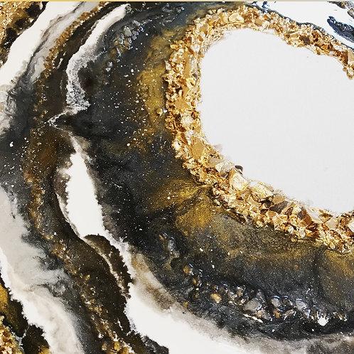 Custom Handmade Resin Geode Art