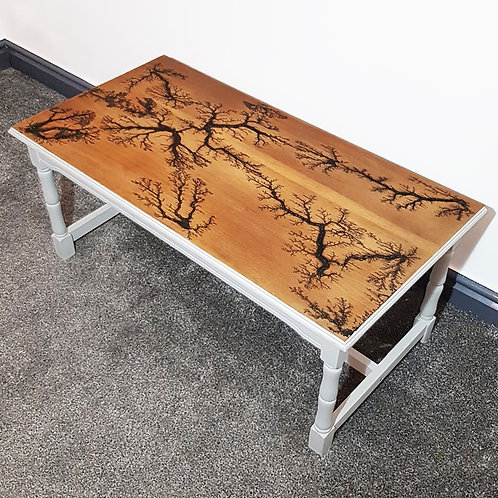 Hard Wood Coffee Table (Lichtenberg, Fractal Burnt, Lightning Effect)