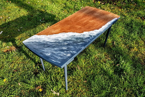 Beach House Resin Coffee Table / River Table / Ocean Coffee Table