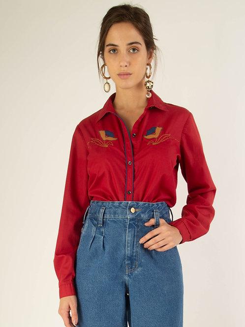 Camisa vermelha country