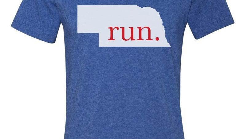run nebraska patriot tee