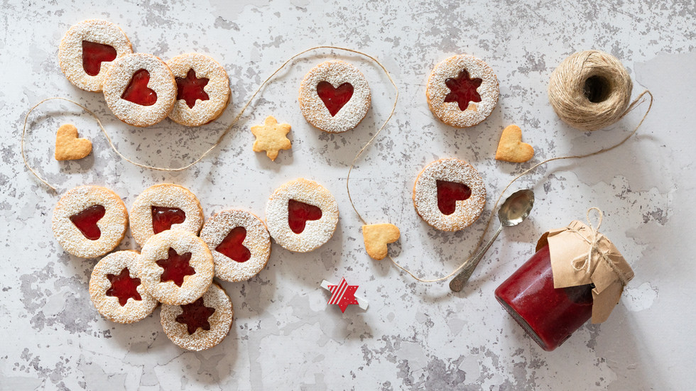 Linzer Cookie with Homemade Jam
