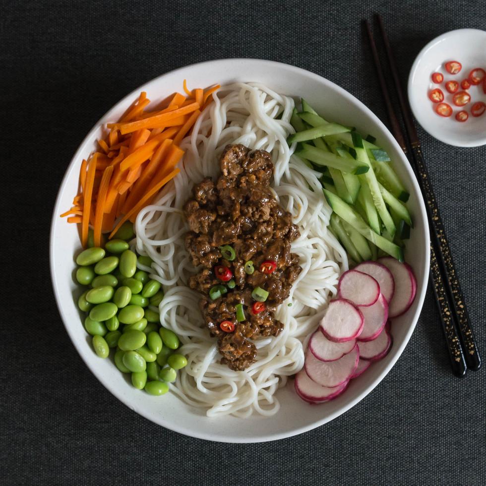Noodles with Soy Bean Paste - Zha jiang mian