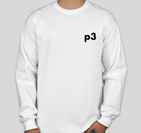 White p3 Long Sleeve Shirt