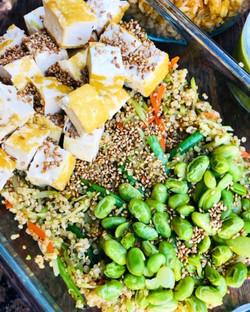 sesame tofu & greens bowl