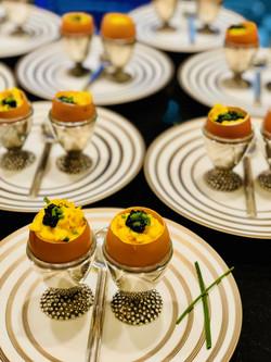 soft scrambled eggs w/ caviar