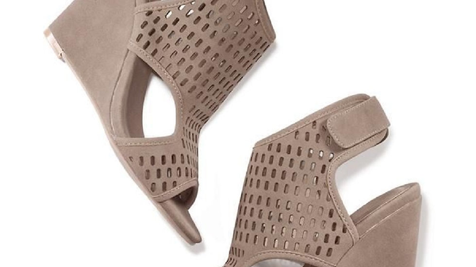 Modern Perforated Wedge Sandals