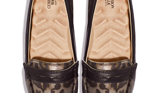 Leopard Print Cushion Walk Loafers Shoes
