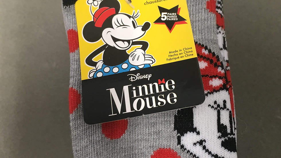 Disney Minnie Mouse Girl's 6-Pairs No-Show Socks