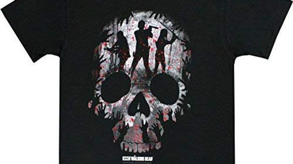 Walking Dead Skull Heroes Montage T-Shirt, Black,  XXL
