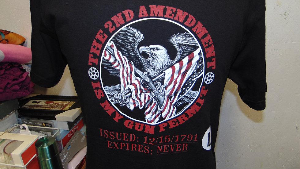 """2ND AMENDMENT """"GUN PERMIT"""" T-SHIRT"""