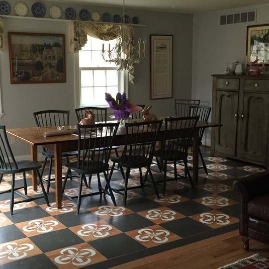 Country kitchen floor