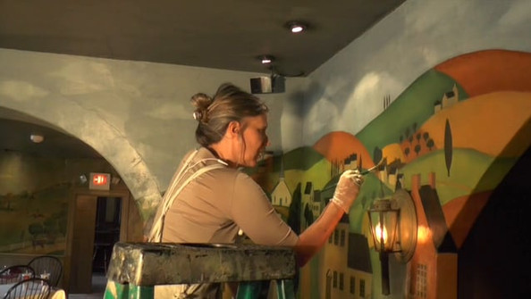 Restoring the Stockton Inn Mural