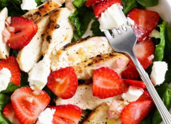Strawberry Feta Chicken Salad
